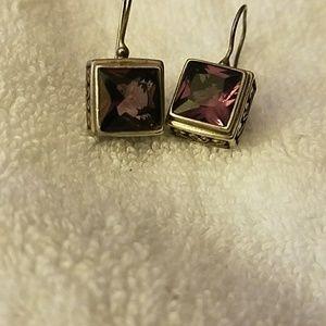 Jewelry - Sterling Silver Amythest Drop Earrings